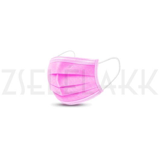 Eldobható szájmaszk pink 10db